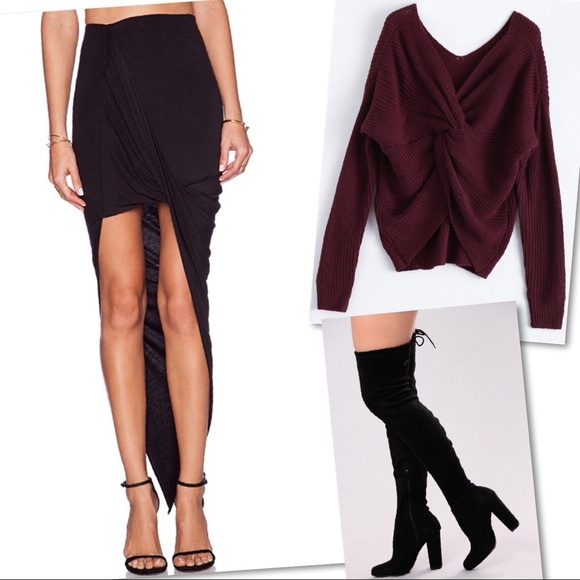 BLQ BASIQ Dresses & Skirts - 🆕 BLQ BASIQ WRAP MAXI SKIRT IN BLACK BLQB-WQ8